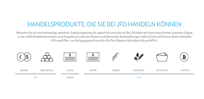 JFD Brokers Handelsangebot