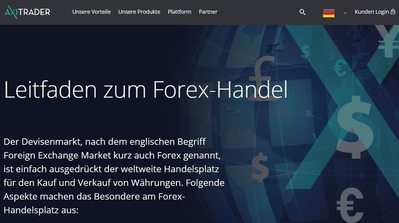 Forexhandel bei AxiTraders