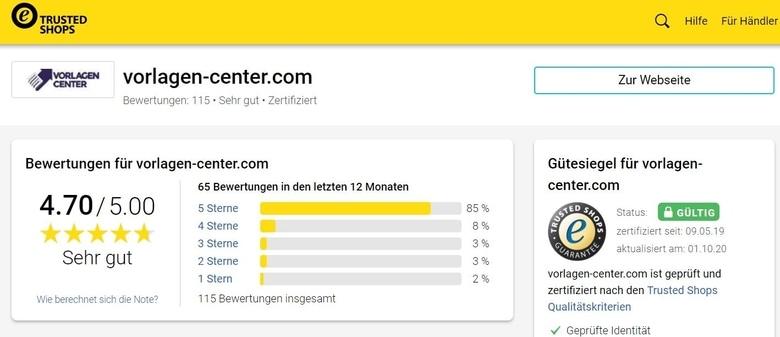 Erfahrungen mit Vorlagen-Center.com