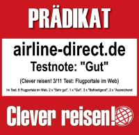 airline direct Auszeichnung