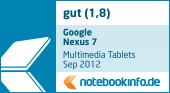 Google Nexus 7 Auszeichnung