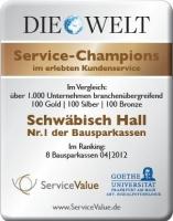Schwäbisch Hall Auszeichnung
