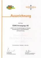 ESWE Auszeichnung