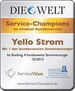 Yello Strom Auszeichnung