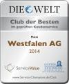 Westfalen AG Auszeichnung