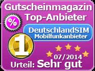 DeutschlandSIM Auszeichnung
