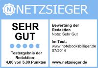 notebooksbilliger.de Auszeichnung