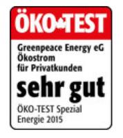 Greenpeace Energy Auszeichnung