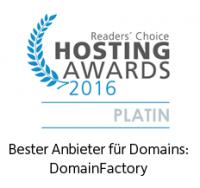 DomainFactory Auszeichnung