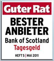 Bank of Scotland Auszeichnung