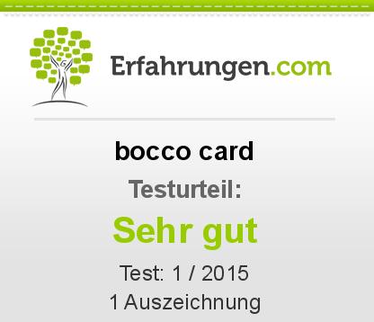 bocco card Testbericht