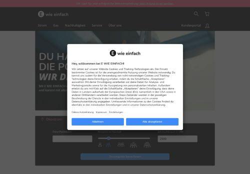 E WIE EINFACH Website Screenshot