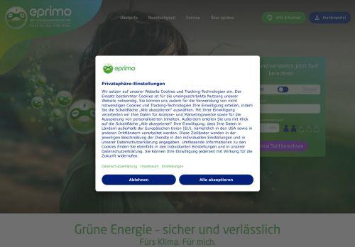 eprimo Website Screenshot