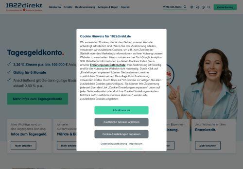 1822direkt Website Screenshot