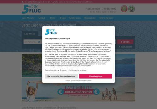 5vorFlug Website Screenshot
