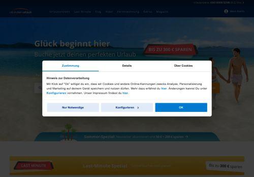 ab-in-den-urlaub.de Website Screenshot