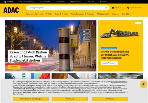 ADAC Website Screenshot