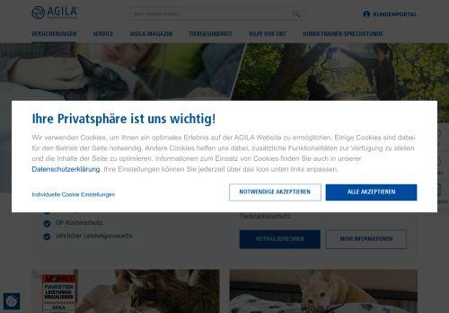 AGILA Website Screenshot