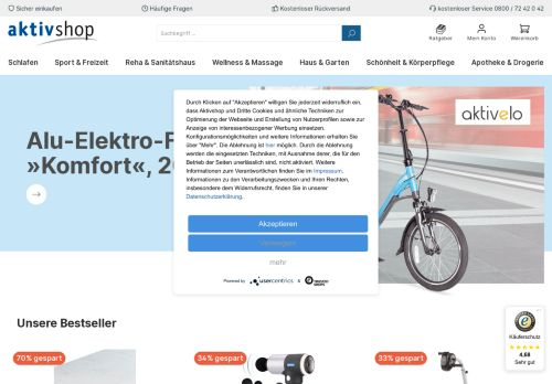 aktivshop Website Screenshot