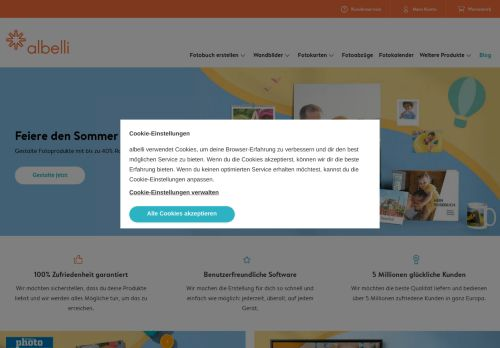 Albelli Website Screenshot