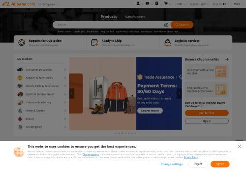 Alibaba.com Website Screenshot