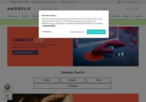 Amorelie Website Screenshot
