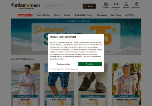ATLAS FOR MEN Website Screenshot
