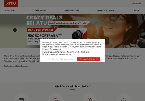 A.T.U Website Screenshot