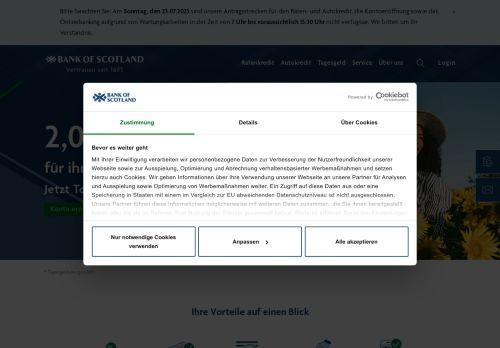 Bank of Scotland Website Screenshot