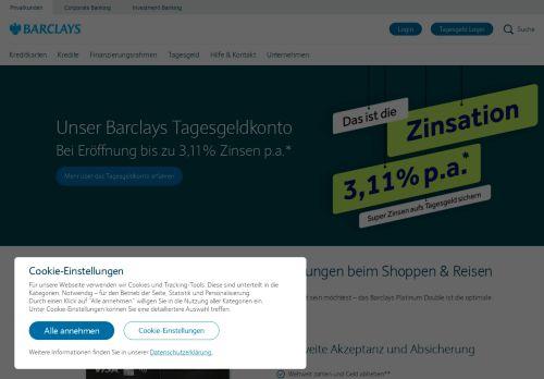 Barclaycard Website Screenshot