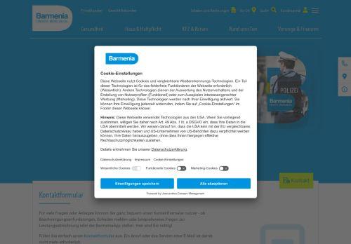 Barmenia Website Screenshot
