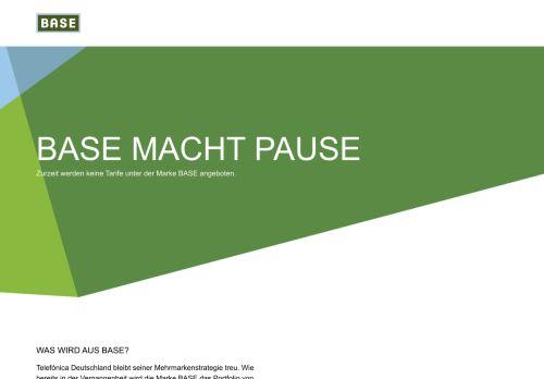 BASE Website Screenshot