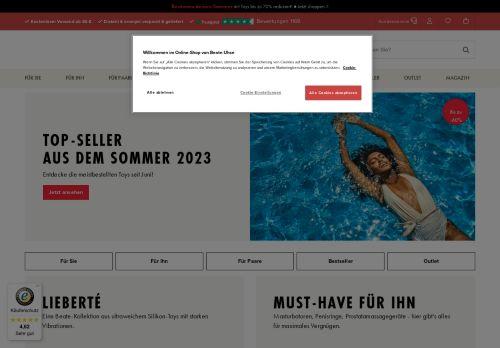 Beate Uhse Website Screenshot