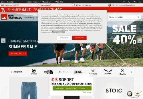 Bergfreunde.de Website Screenshot