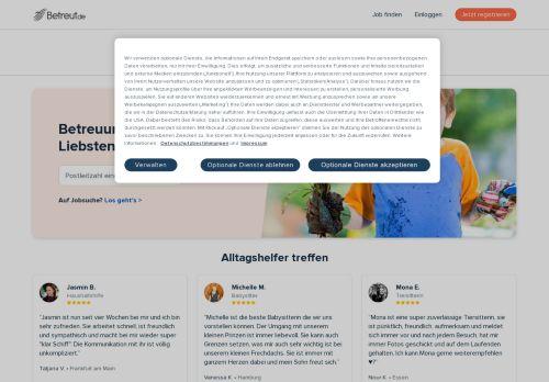 Betreut.de Website Screenshot