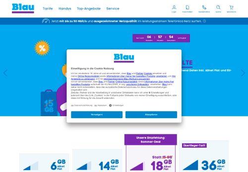 Blau.de Website Screenshot