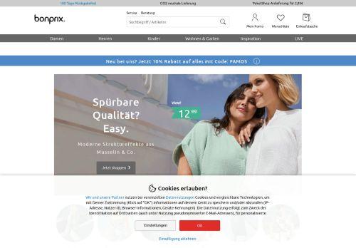 bonprix Website Screenshot