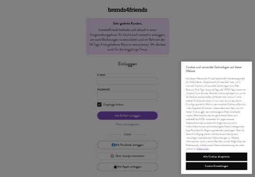 brands4friends Website Screenshot
