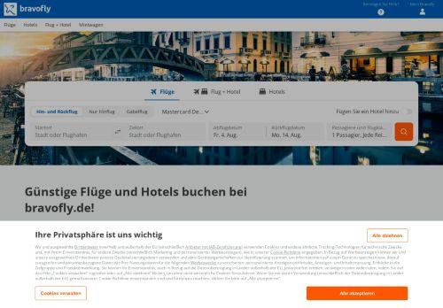 Bravofly Website Screenshot