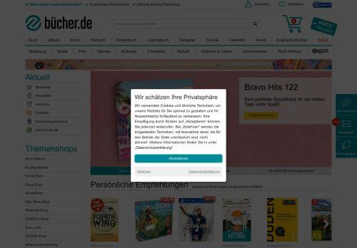buecher.de Website Screenshot