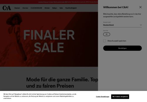 C&A Money Website Screenshot