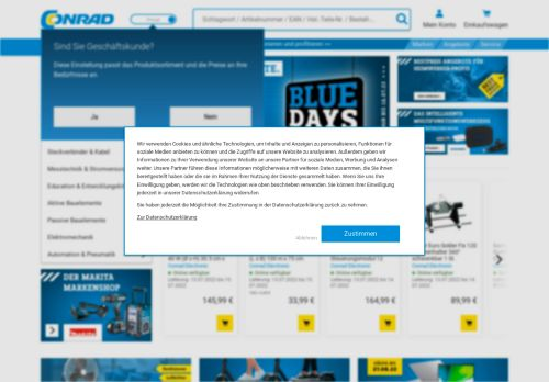 Conrad Website Screenshot