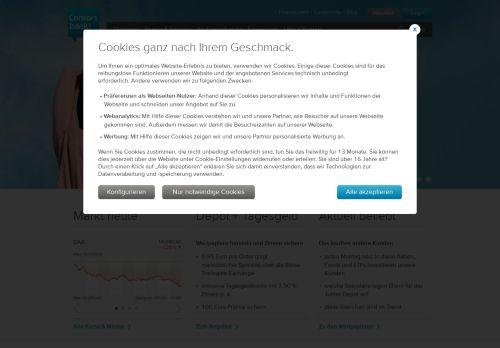 Consorsbank Website Screenshot