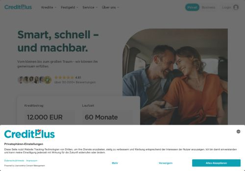 Credit Europe Bank Website Screenshot