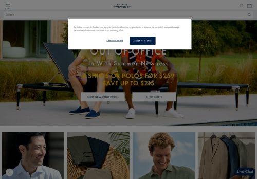 Charles Tyrwhitt Website Screenshot