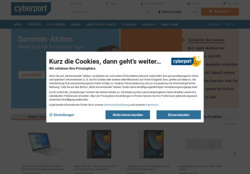 Cyberport Website Screenshot