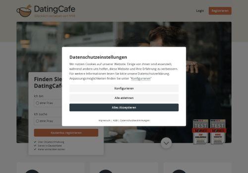 Dating Cafe Website Screenshot