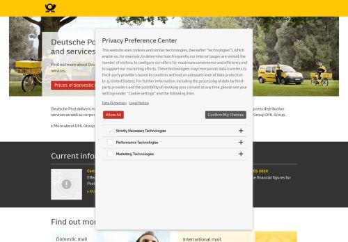 Deutsche Post Website Screenshot