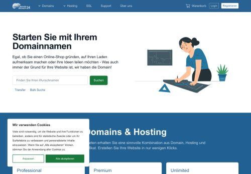 domaindiscount24 Website Screenshot
