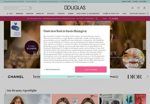 Douglas Website Screenshot